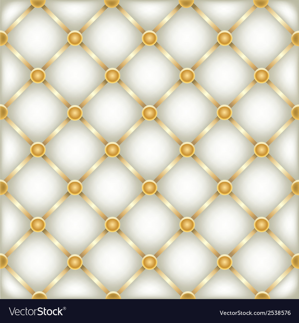 Sofa Texture Vector Golden White Leather Furniture Texture