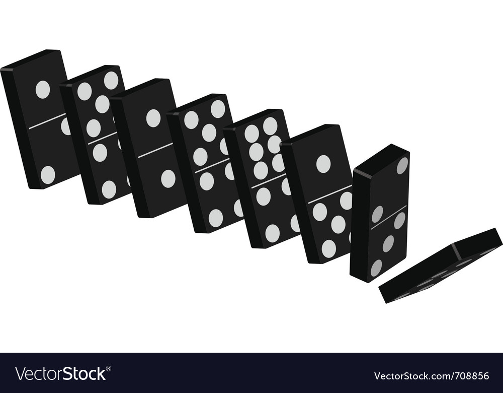 Domino effect Royalty Free Vector Image - VectorStock