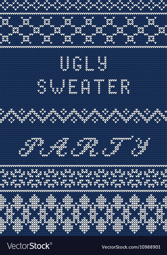 Ugly sweater template Royalty Free Vector Image