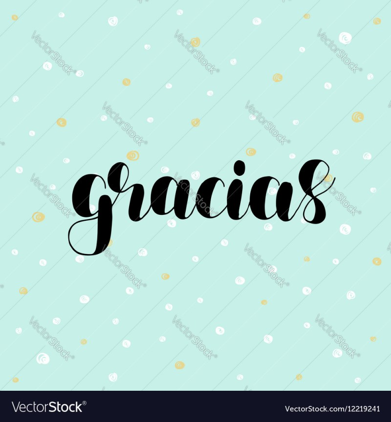 Large Of Spanish For Thank You