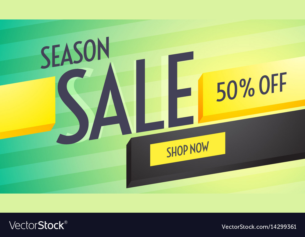 Season sale discount voucher design with Vector Image