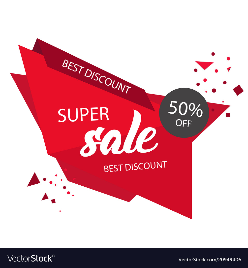 Store Banne Discount Super Sale Best Discount 50 Off Modern Sale Banne