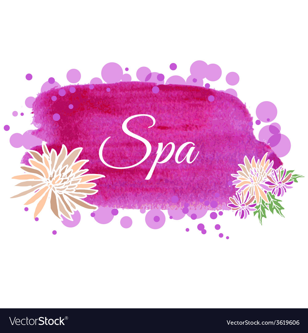 Made Using Watercolors On Spa Salon Royalty Free Vector