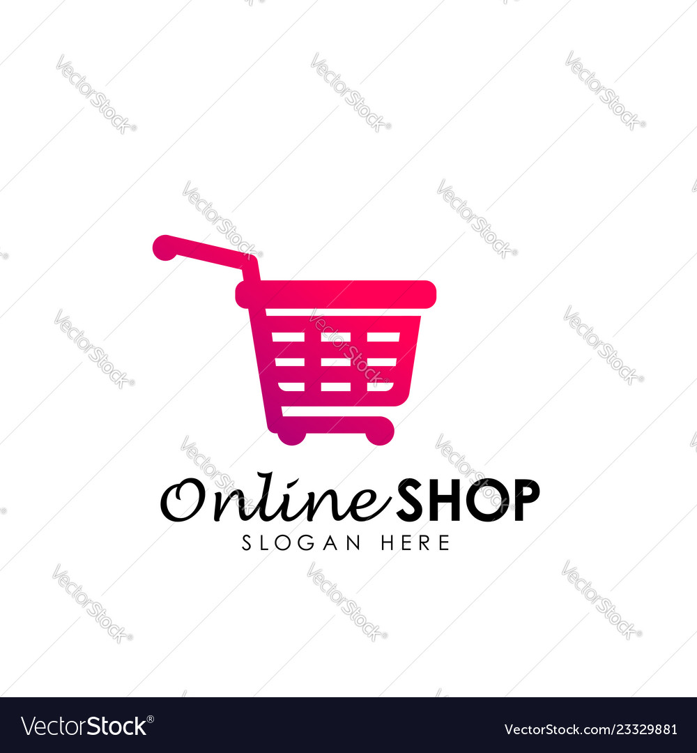 Design Online Shop Online Shop Logo Design Icon Shopping Basket Logo
