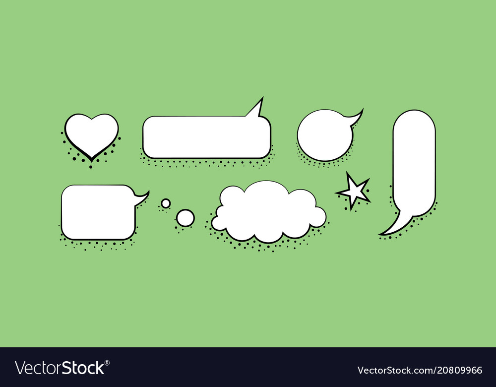 Set speech bubble design template Royalty Free Vector Image