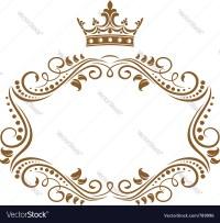 Elegant royal frame Royalty Free Vector Image - VectorStock