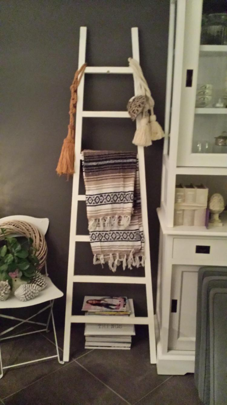 Decoratie Ladder Babykamer Decoratie Trap Fabulous Houten Decoratie Ladder Wit X X Cm With