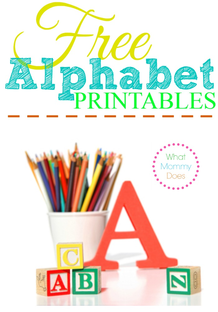Free Alphabet Printables \u2013 Letters, Worksheets, Stencils  ABC Flash