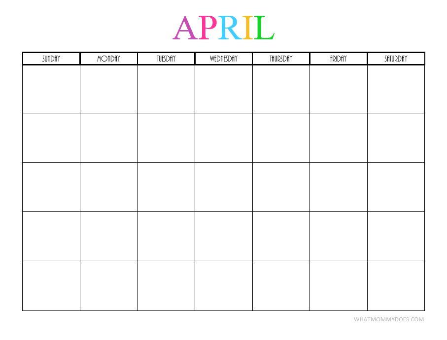 Free Printable Blank Monthly Calendars - 2018, 2019, 2020, 2021+