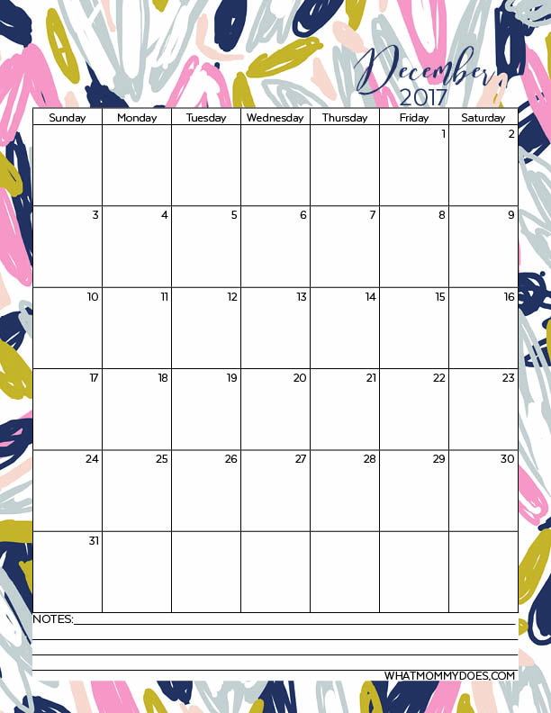 Free Printable 2017 Monthly Calendars - What Mommy Does - printable 2017 calendar