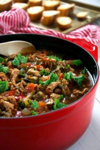 A quick and hearty sweet Italian sausage soup filled with ...