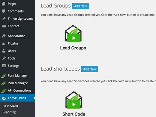 ThriveLeads comes with cluttered and bloated user interface
