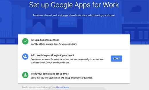 Google Apps for Work setup steps