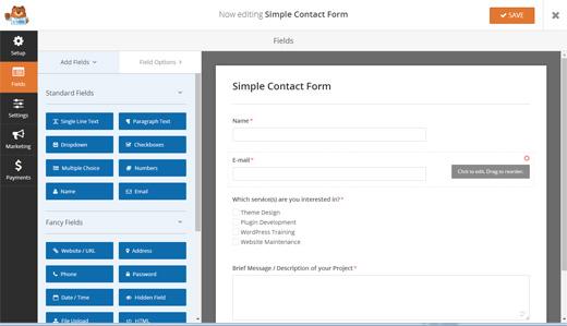 WPForms Online Form Builder