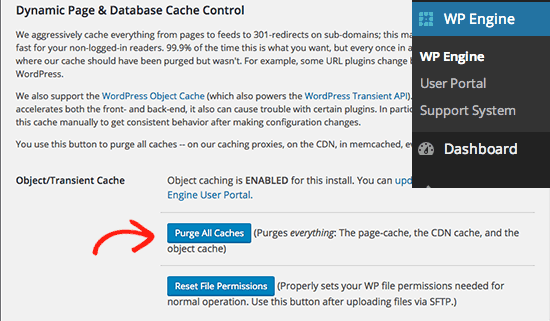 Clear WPEngine cache