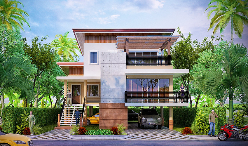 Philippine Flood-Proof Elevated House Design Is your house located - fresh building blueprint design software
