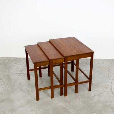 Danish Modern Teak Nesting Tables by Peter Hvidt  Orla Mølgaard