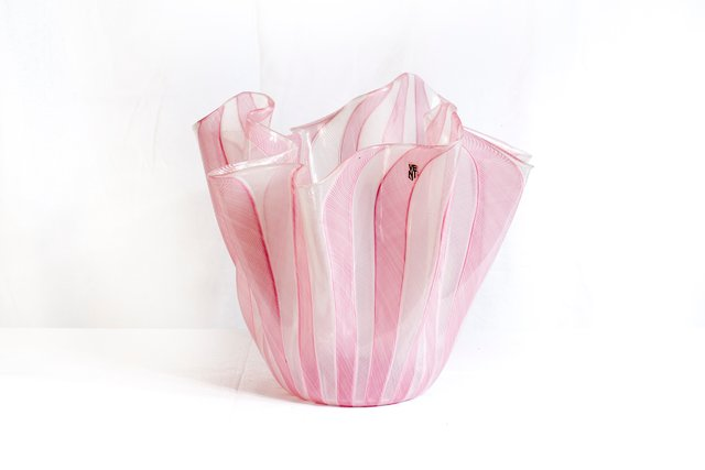Handkerchief Glass Vase By Fulvio Bianconi For Venini