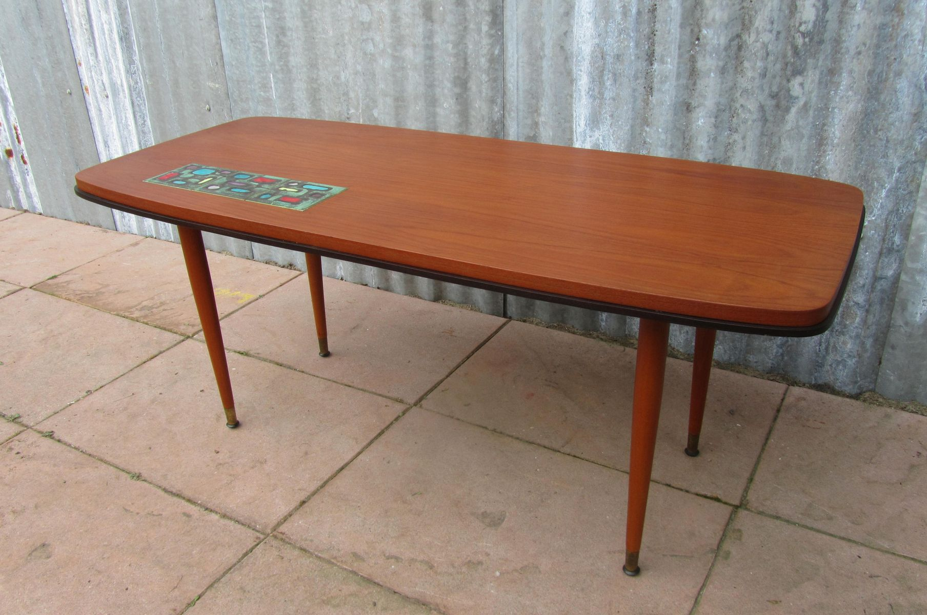 Couchtisch Marvel Vintage Teak Coffee Table With Ceramic Tile 1950s For