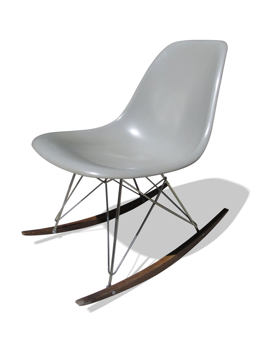 Charles Eames Grey Rocking Chair By Charles Ray Eames For Herman Miller 1960s