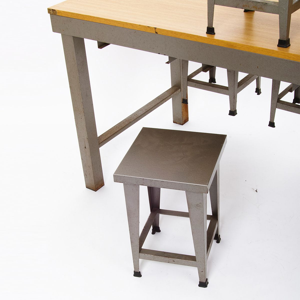 Vintage Industrial Style Vintage Industrial Style Table With Stools For Sale At Pamono