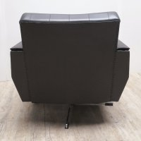 Vintage Leather Swivel Armchair for sale at Pamono