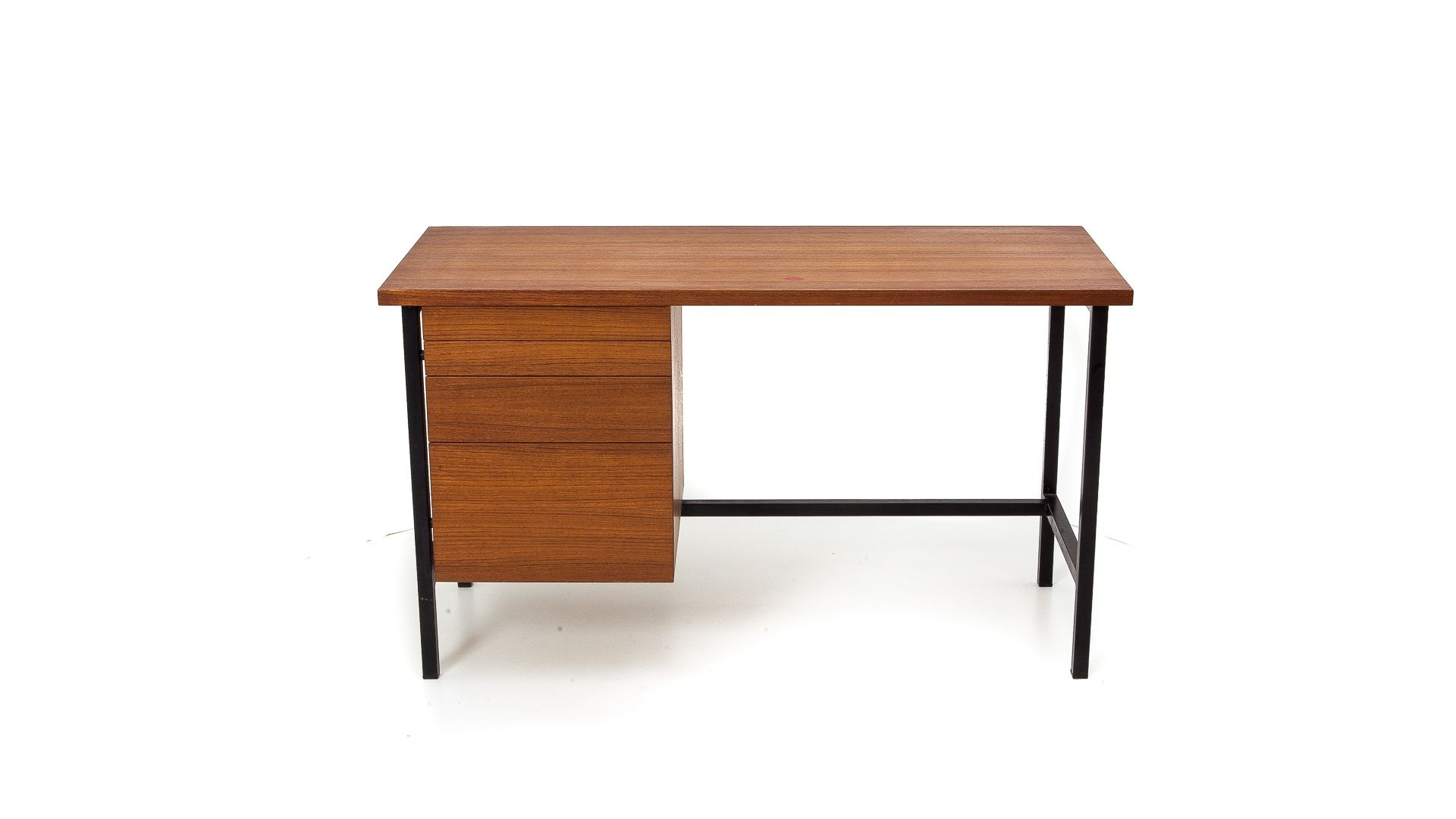 Knoll International Teak And Steel Typewriters Desk By Florence Knoll For Knoll International 1960s