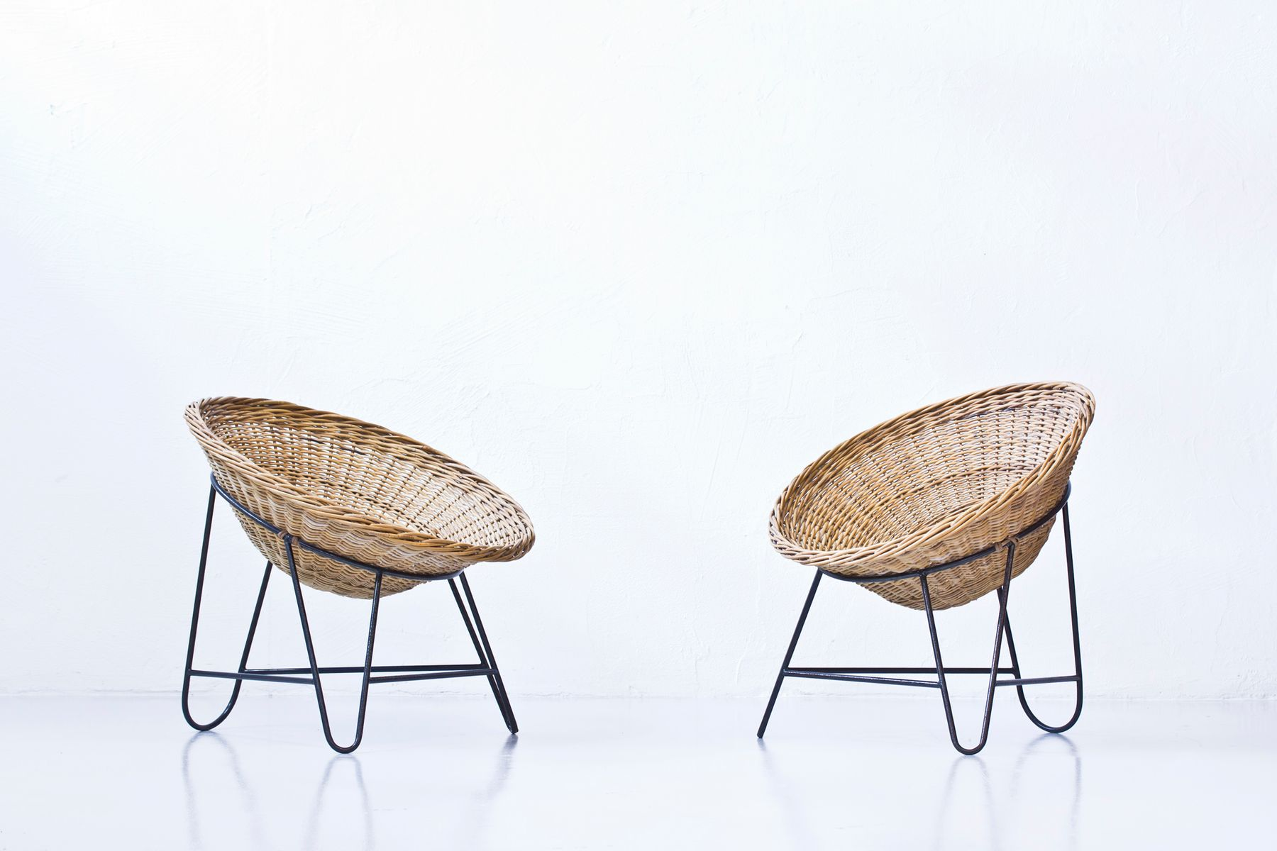 Rattan Chairs Vintage Rattan Chairs Set Of 2