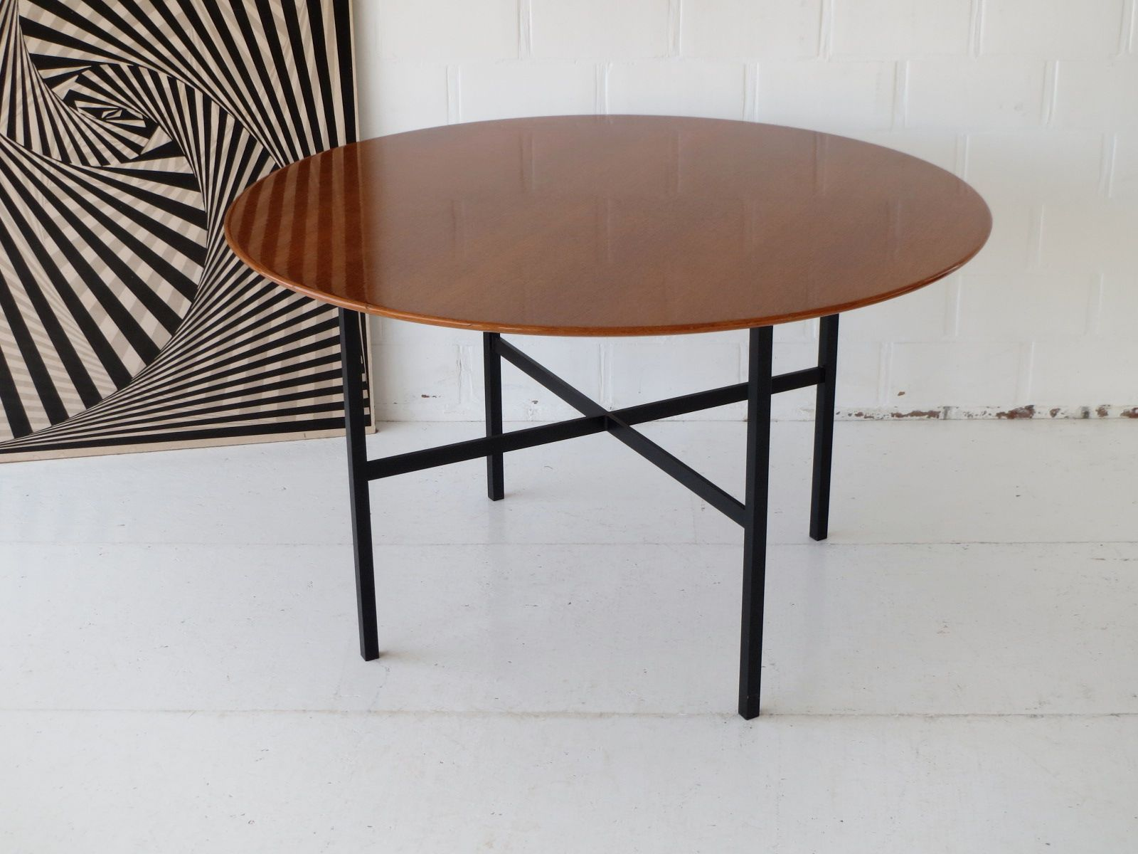 Vintage Belgian Teak Dining Table By Florence Knoll For