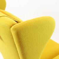 Yellow Scandinavian Mid-Century Armchair for sale at Pamono