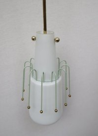 Italian Glass Pendant Light, 1950s for sale at Pamono