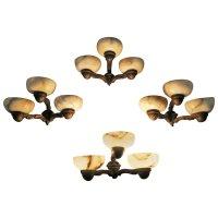 Antique Alabaster and Bronze Sconces, Set of 4 for sale at ...