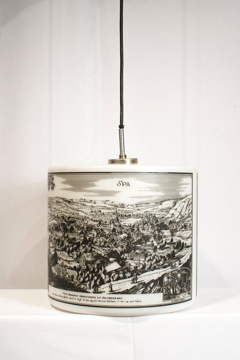 Design Liege Pendant Light With Historical Pictures Of Spa And Liège 1970s