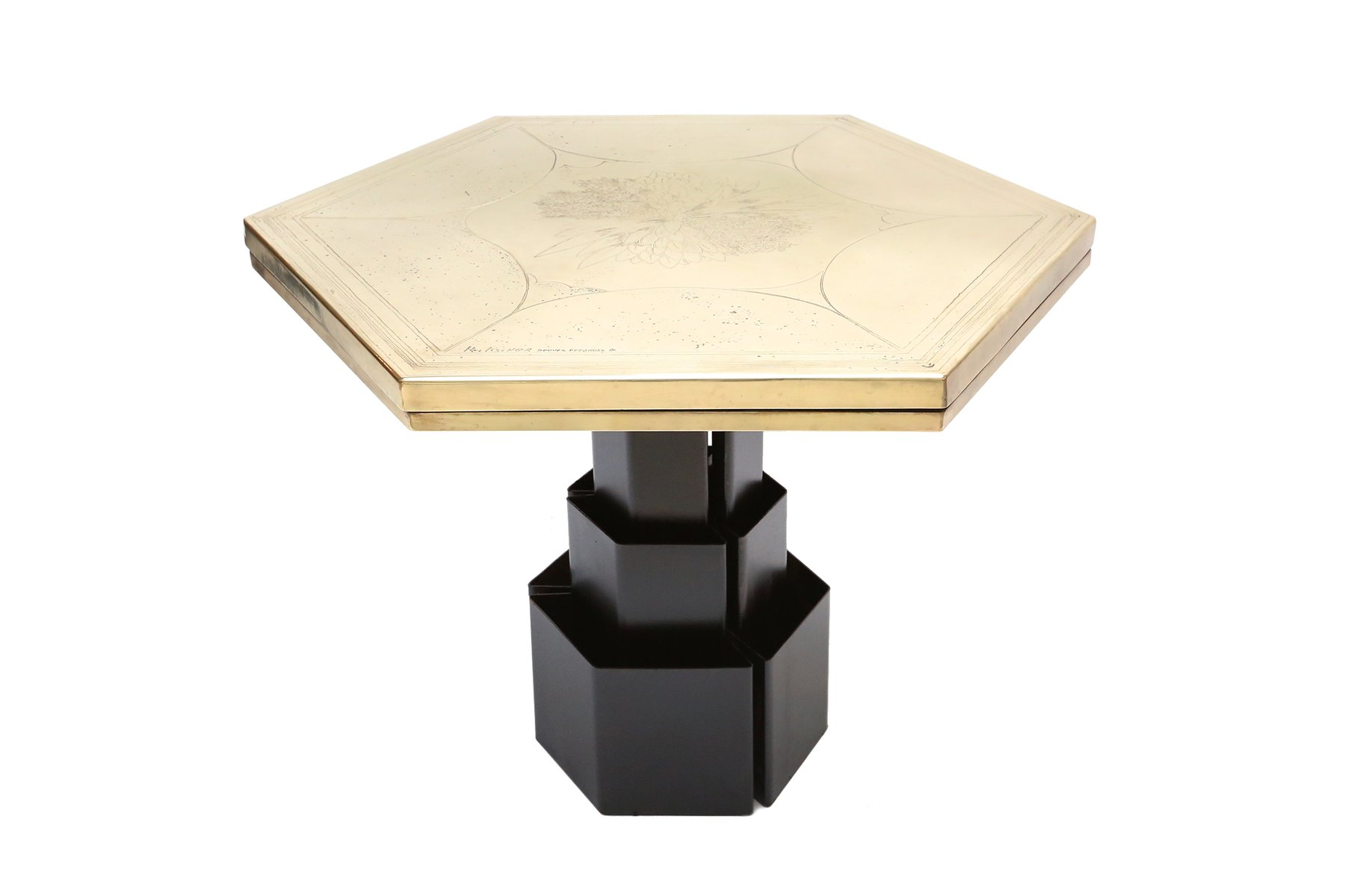 Hexagonal Table By Christian Heckscher 1980s For Sale At