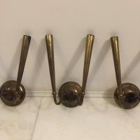 Vintage Brass Sconces, Set of 4 for sale at Pamono