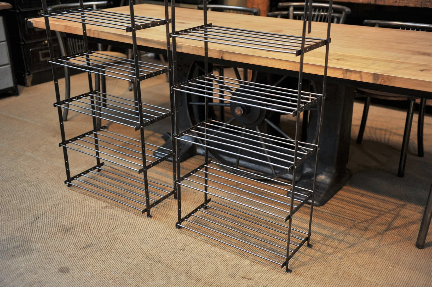 Metal Shelving Vintage Industrial Metal Shelving Unit 1950s