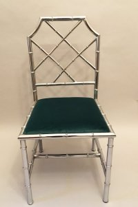 Mid-Century Faux Bamboo Chrome Side Chair, 1960s for sale ...