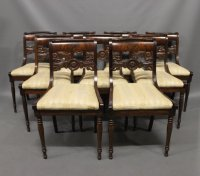 Antique Danish Chairs, 19th Century, Set of 9 for sale at