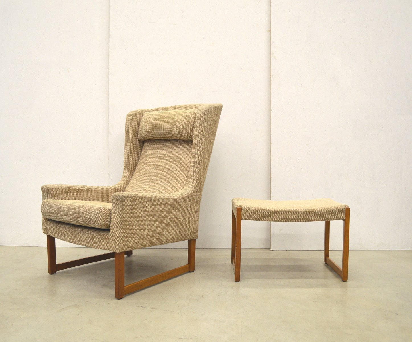 Kill International Rudolf B Glatzel Ledersessel Wingbackchair Ohrensessel And Hocker Von Rudolf B Glatzel Für Kill