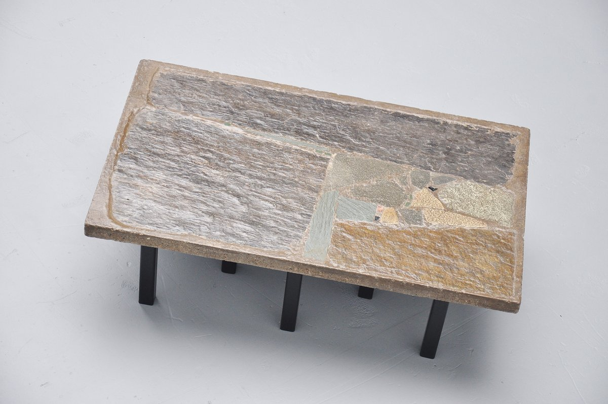 Couchtisch Fossil Rectangular Coffee Table In Stone Concrete By Paul Kingma 1963