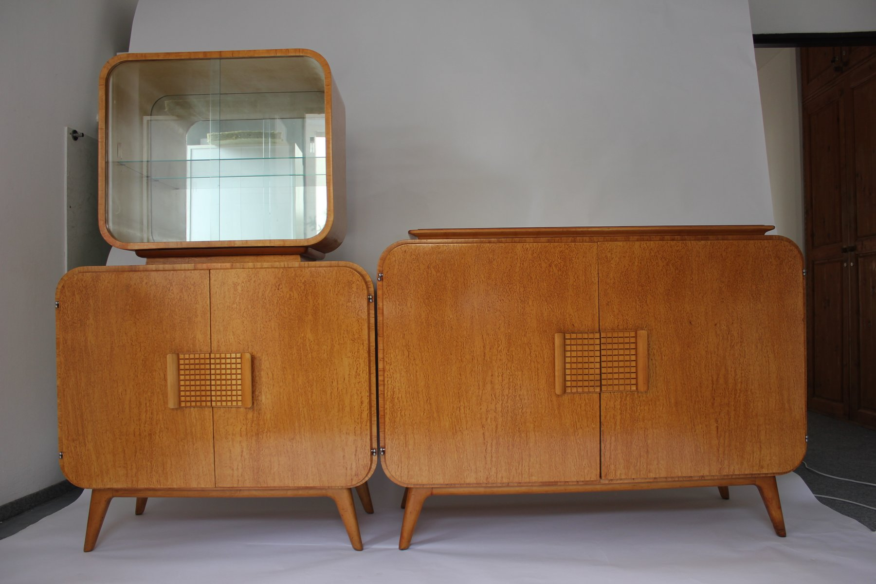 Sideboard Vitrine Vintage Buffet And Vitrine By Jindrich Halabala For Up Zavody 1946
