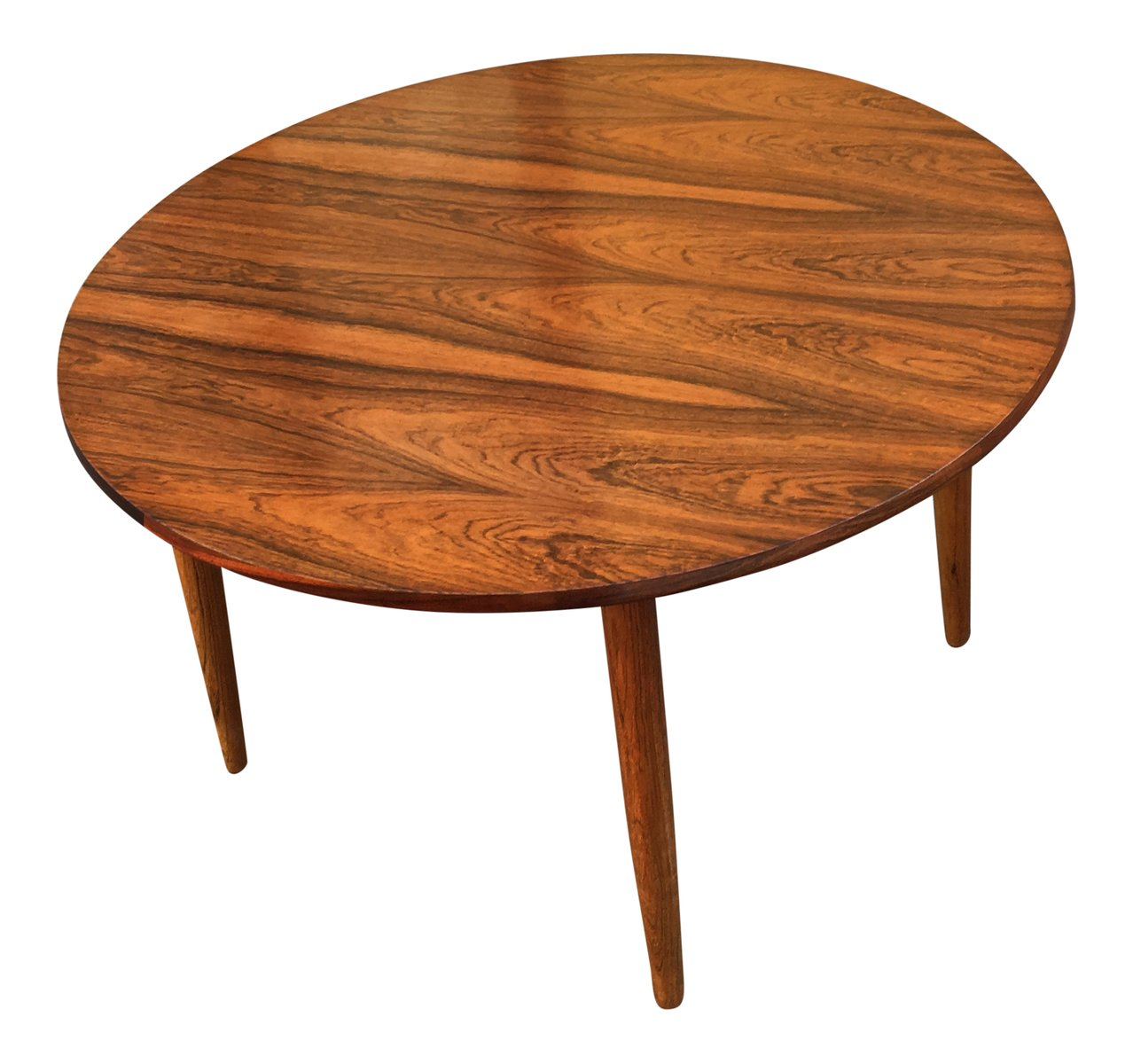 Round Mid Century Coffee Table Mid Century Round Rosewood Coffee Table For Sale At Pamono