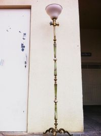 Art Deco Green Marble Floor Lamp for sale at Pamono