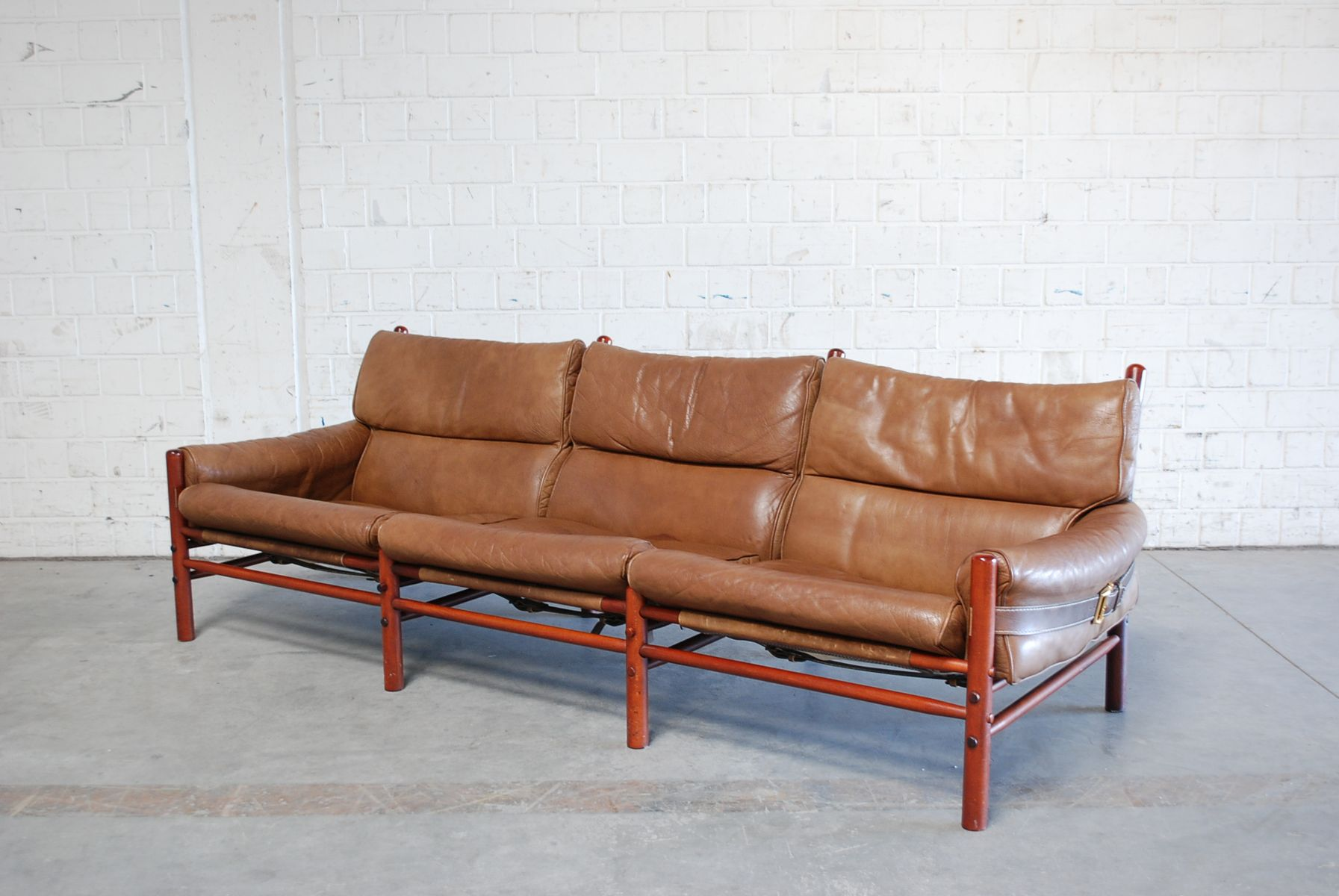 Möbel 24 Sofa Vintage Kontiki 3 Seater Leather Sofa By Arne Norell