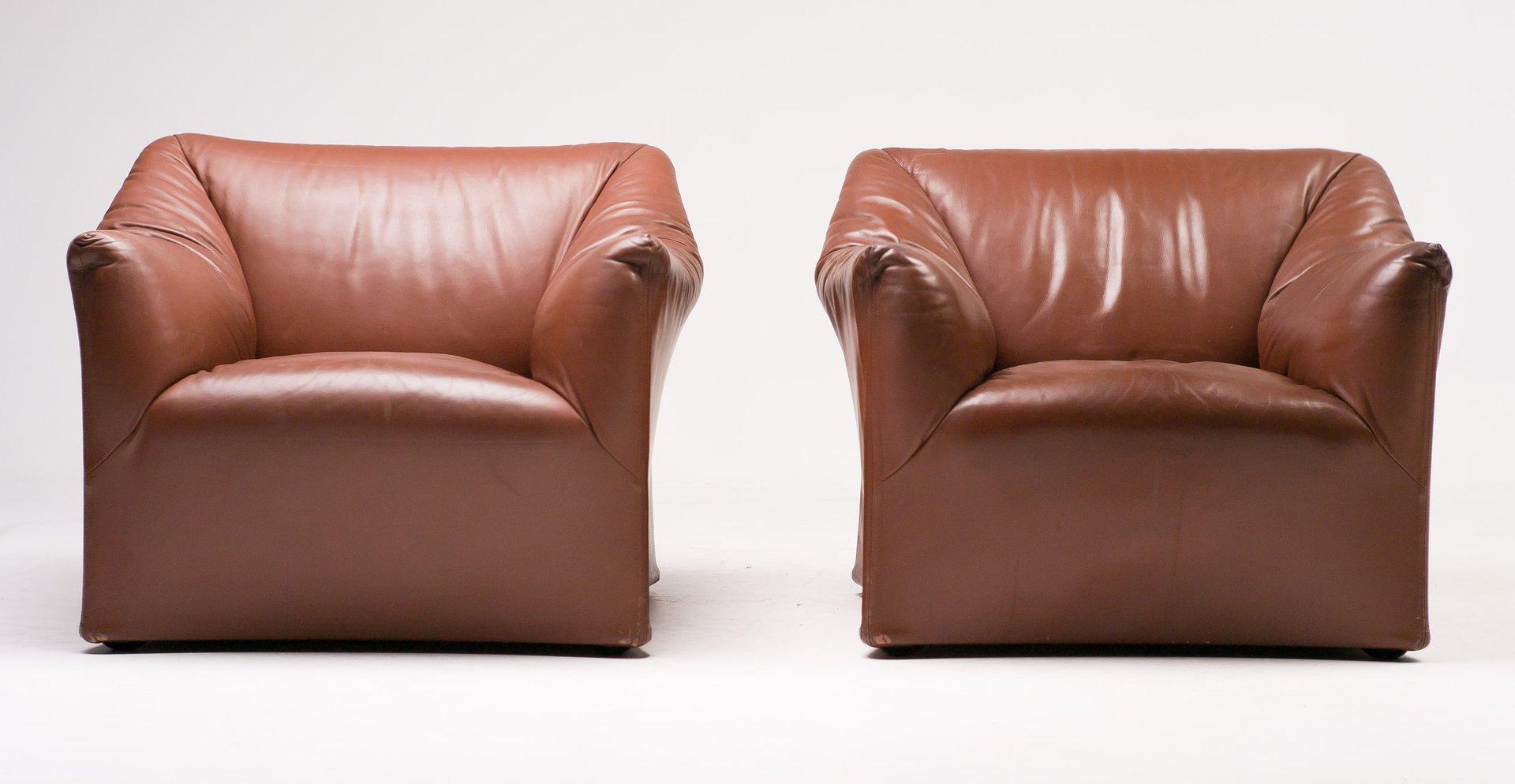 Sedie Vintage Pelle : Sedia cassina vintage set barrel armchairs cassina