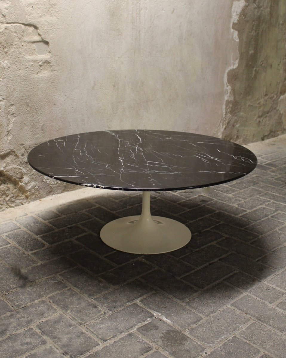 Saarinen Knoll Table Vintage Black Tulip Coffee Table By Eero Saarinen For Knoll International
