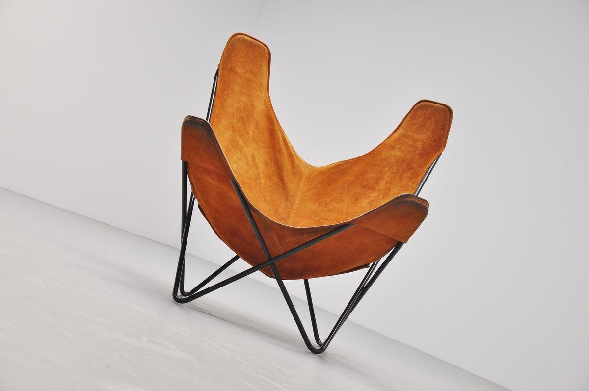 Butterfly Chair Knoll Butterfly Chair By Jorge Hardoy Ferrari For Knoll 1970s