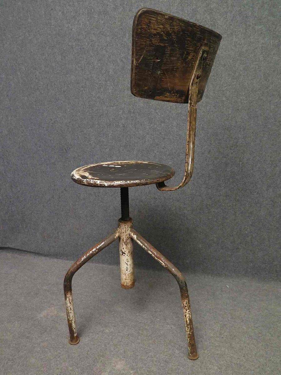 Chaise Vintage Industrielle Italie 1960s