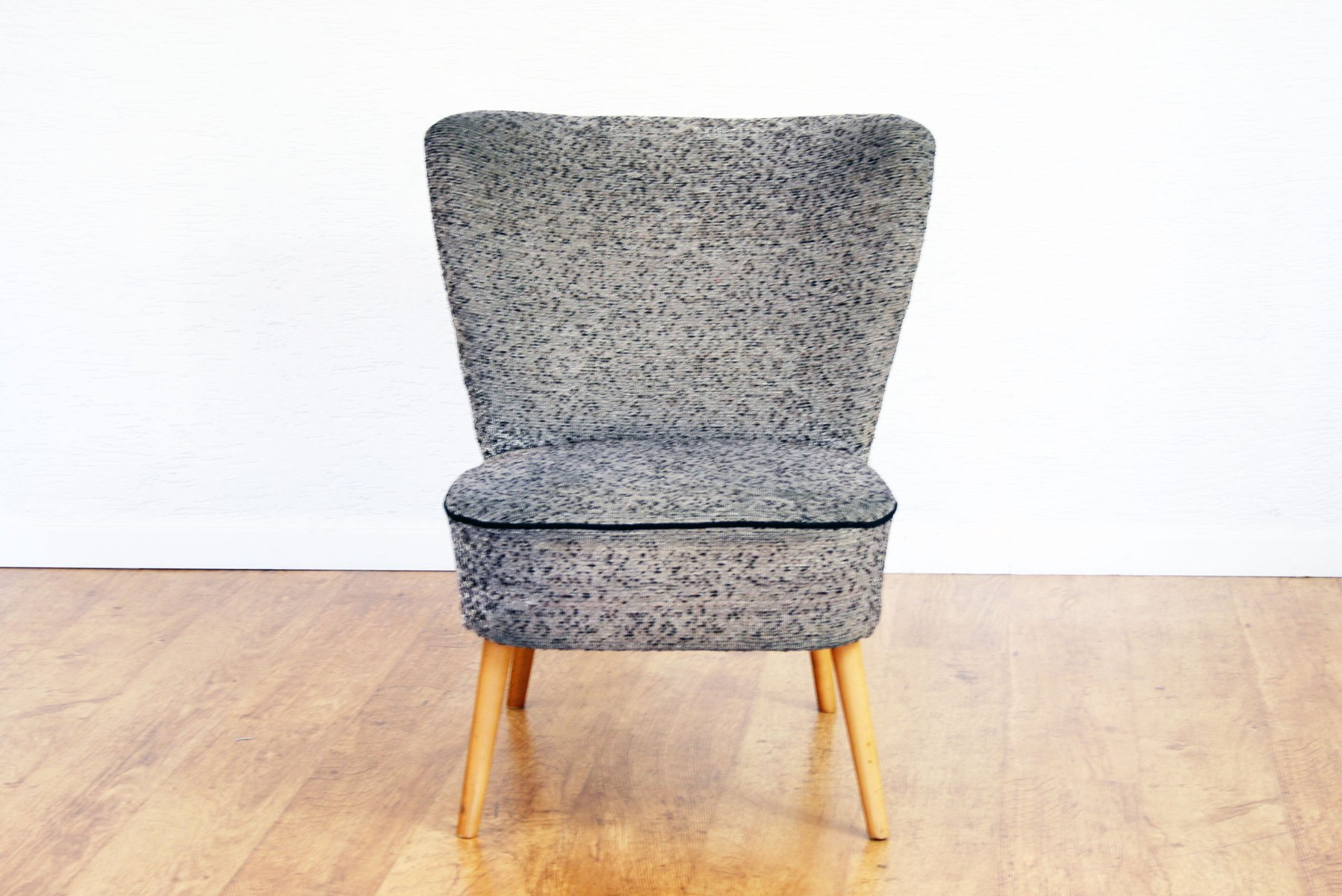 Cocktailsessel Vintage Vintage Cocktail Chair In Grey Fabric For Sale At Pamono