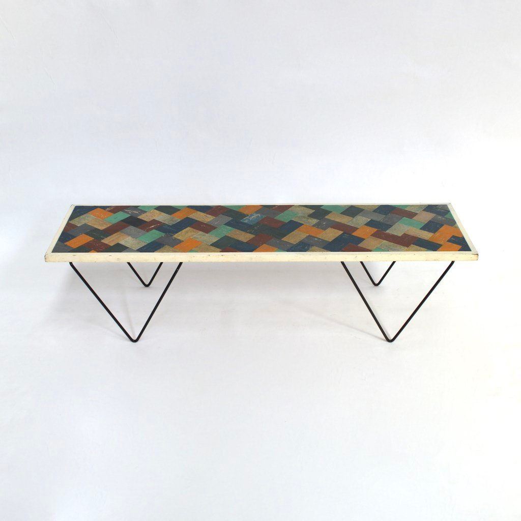 Couchtisch Marvel Vintage Linoleum Coffee Table For Sale At Pamono